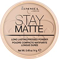 Rimmel London Stay Matte Pressed Powder, Mineral Formula for Long-lasting Shine Effect, Silky Beige, 14 g