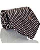 Versace Men's Geometrical Patterned Geo Squiggle Silk Necktie