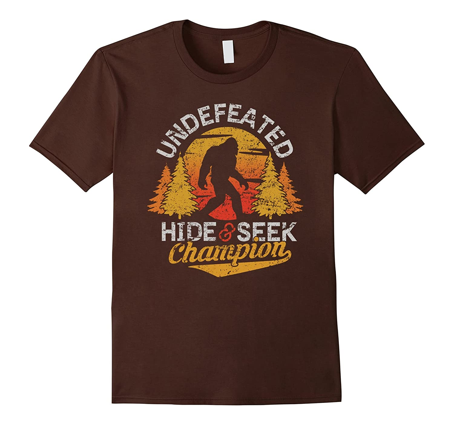 Bigfoot T-shirt Undefeated Hide & Seek Sasquatch Yeti Gift-mt