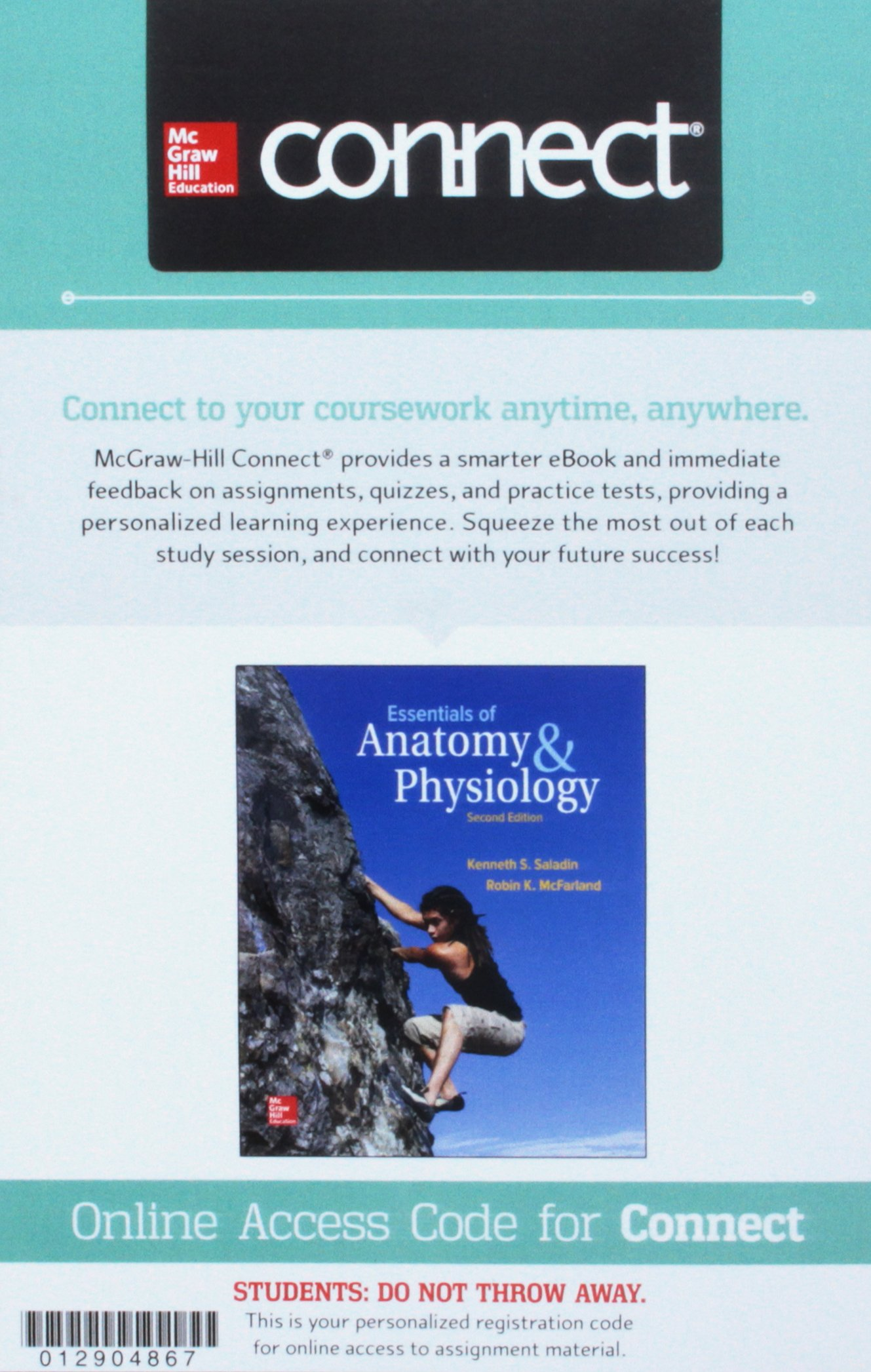Fein Saladin Anatomy And Physiology 7th Edition Connect ...