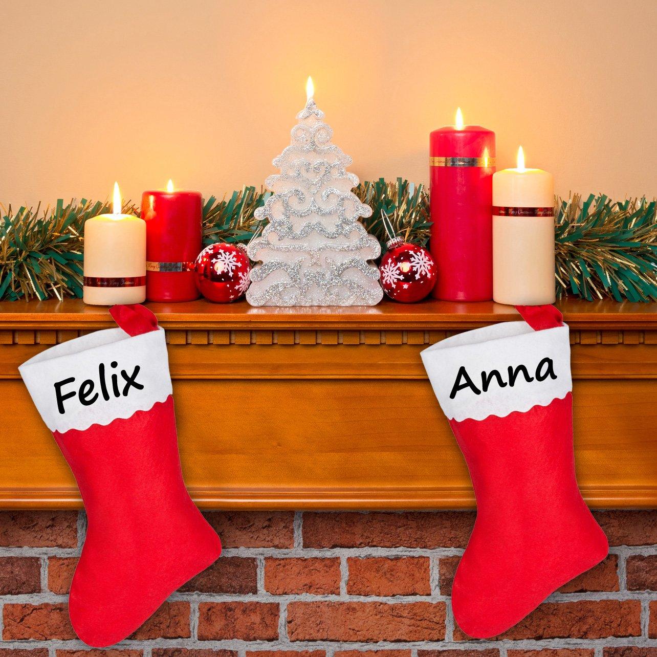 Amazon.de: Nikolausstiefel mit Namen, Weihnachtssocke ...