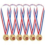 Juvale Pack of 6 Gold Medals - Winner Medals for