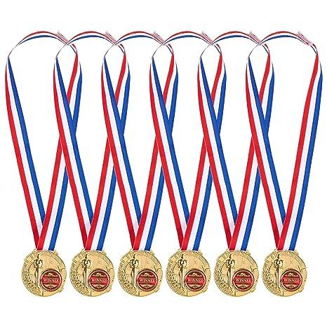 Pack de 6 Medallas de Oro - ganador medallas para niños y ...