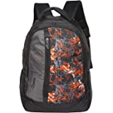 Zwart 25Ltrs Orange Printed Backpack