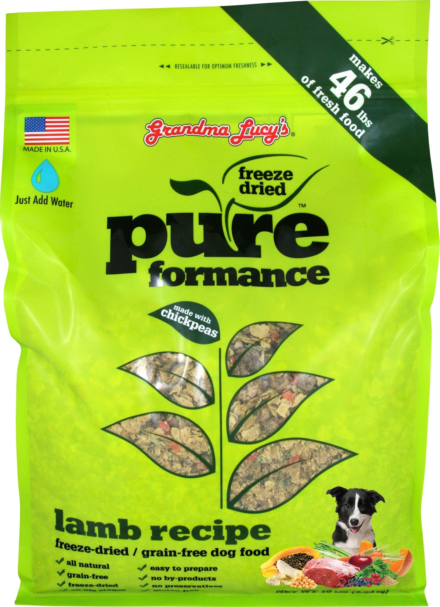 GRANDMA LUCY'S 844214 Pureformance Grain Free Lamb Food for Dogs, 10-Pound by Grandma Lucy's (Image #1)