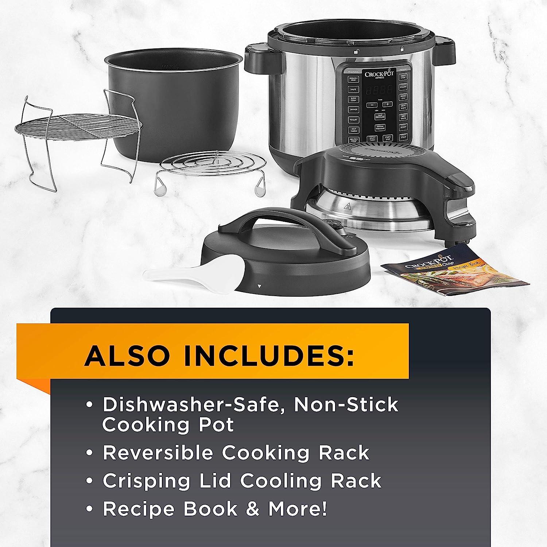 Crock-pot SCCPPA800-V1 Express Crisp 8-Quart Pressure Cooker ...