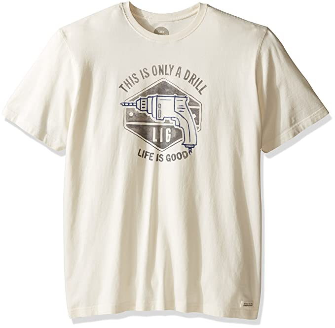 930bf4985a8 Amazon.com  Life is Good Men s Only A Drill Crusher Tee  Sports   Outdoors