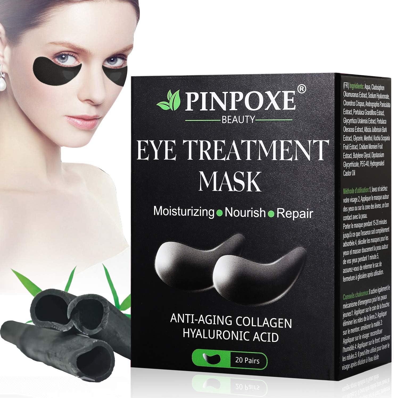 Máscara para los ojos, Parches para los ojos, Ojos Parches, Contorno de Ojos Antiarrugas, Anti edad para ojeras,bolsas,patas de gallo e hinchazón, 20 pares