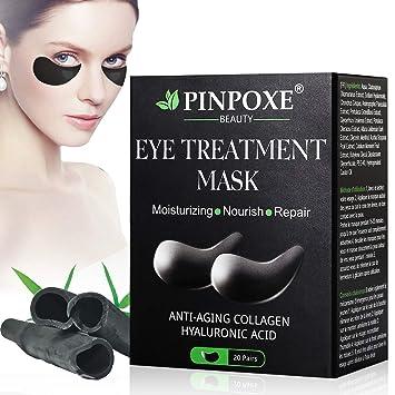 Máscara para los ojos, Parches para los ojos, Ojos Parches, Contorno de Ojos Antiarrugas, Anti edad para ojeras,bolsas,patas de gallo e hinchazón, 20 ...