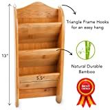 Home Intuition 3-Tier Wall Mount Bamboo Mail