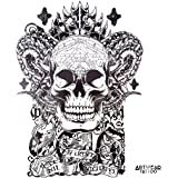 "Temporäre Tätowierung / Temporary Tattoo ""Latin Skull"" - ArtWear Tattoo - B0196 M"