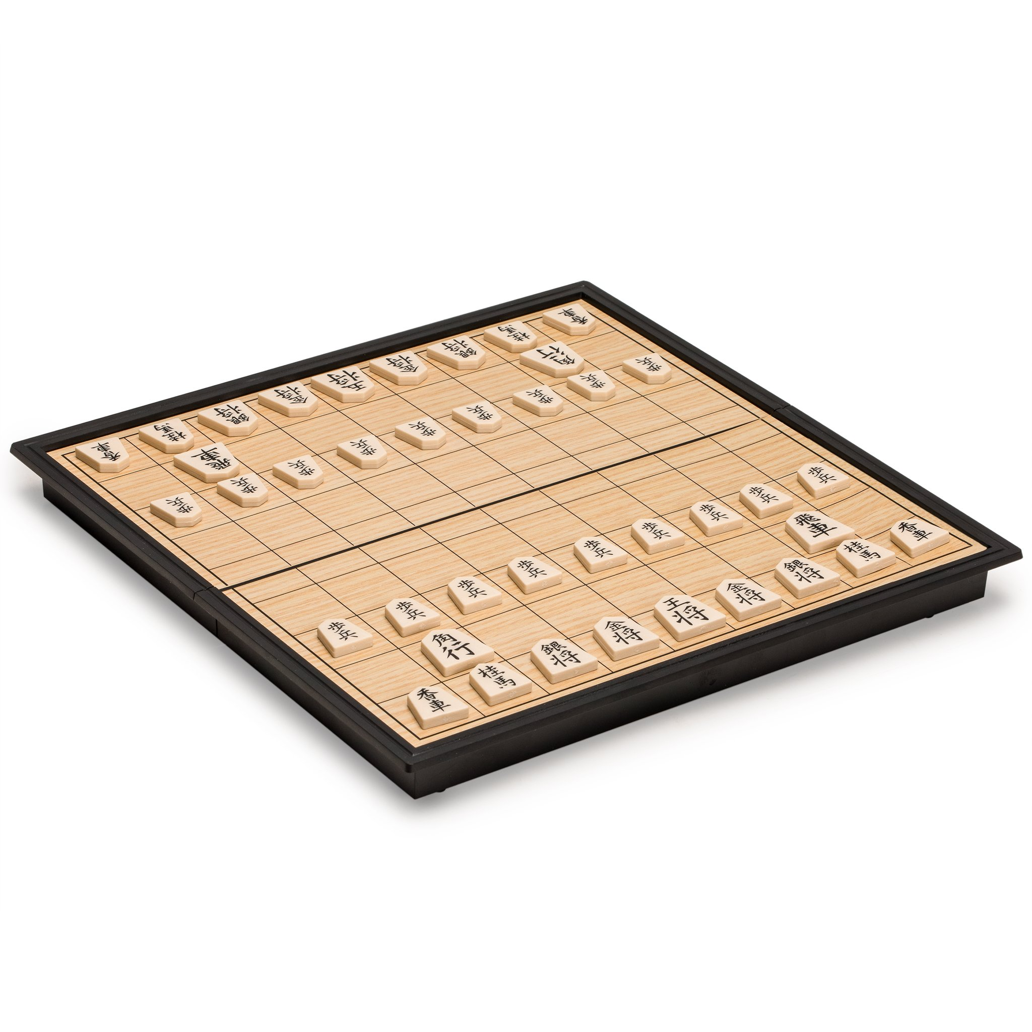 Yellow Mountain Imports Shogi Travel Game Set with Magnetic 9.75 Inch Board and Game Pieces