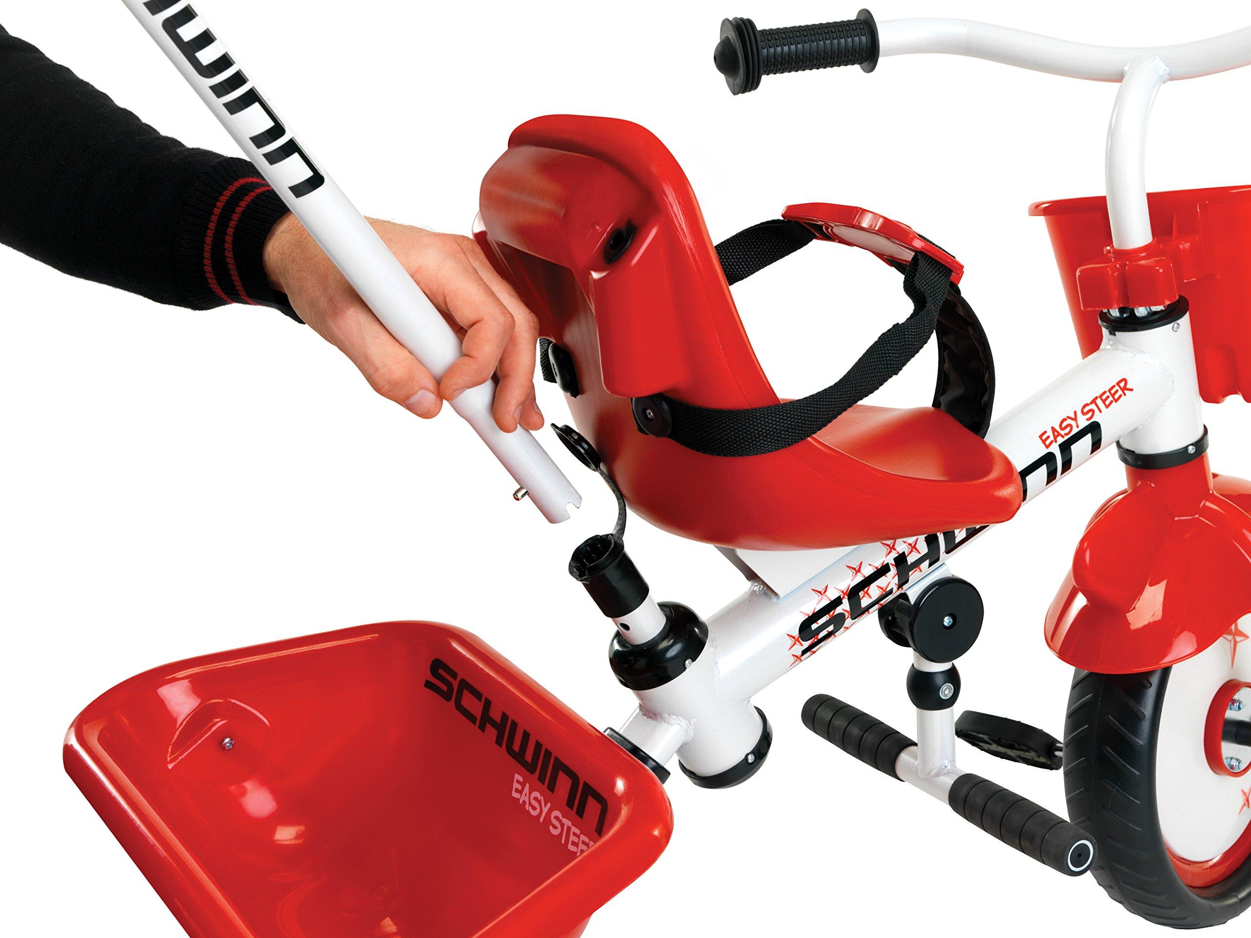 Schwinn Easy Steer Tricycle, Red/White by Schwinn (Image #3)