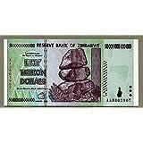 Zimbabwe 50Trillion Dollar Bill Remarque argent inflation enregistrement devises billets