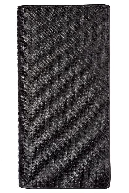 Burberry monedero cartera de hombre nuevo continental london check negro: Amazon.es: Zapatos y complementos