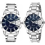 ADAMO Designer Analog Blue Dial Unisex Watch - 813-814SM05