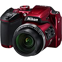 """Nikon COOLPIX B500 Fotocamera da 16MP, 1/2.3"""", CMOS, 4608 x 3456 Pixels, Rosso"""