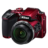 Nikon B500 Coolpix Digital Compact Camera - Red