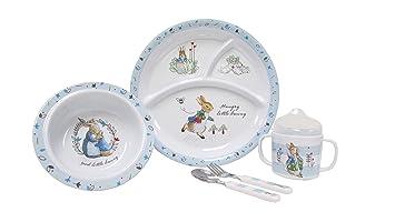 Beatrix Potter Peter Rabbit 5 Piece Melamine Dinnerware Set  sc 1 st  Amazon.com & Amazon.com : Beatrix Potter Peter Rabbit 5 Piece Melamine Dinnerware ...