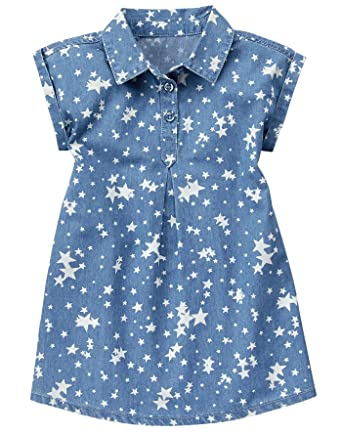 64b80a94a910 Amazon.com  Crazy 8 Girls  Toddler Chambray Star Dress  Clothing