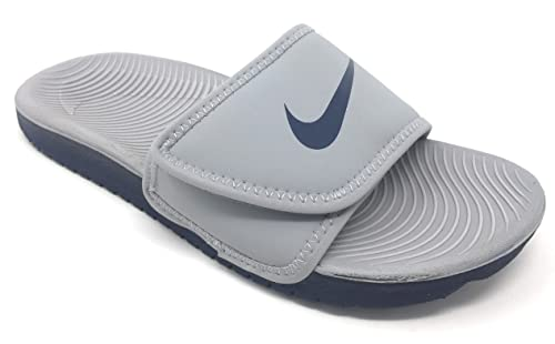 official photos 48e3d e6508 NIKE Boy s Slide Kawa Adjust (GS PS), Wolf Grey Obsidian 3 Y US  Amazon.ca   Shoes   Handbags