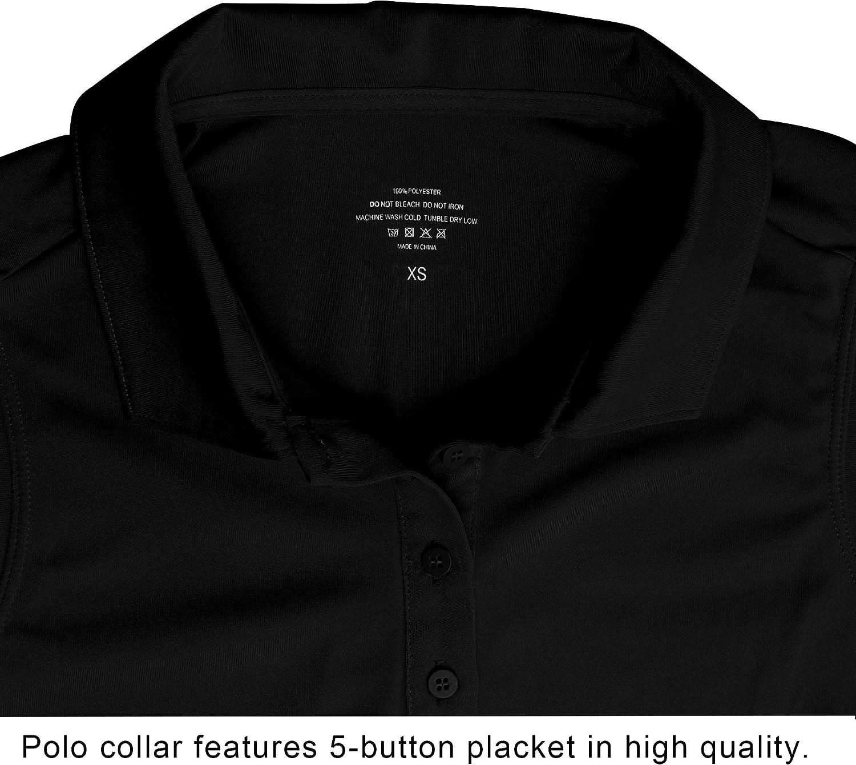 CQC Women's Golf Tennis Sleeveless Polo Shirts Quick Dry Athletic Tank Tops UPF 50+: Clothing