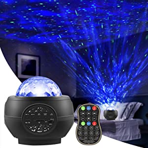 Star Projector Night Light,Galaxy Projector with Bluetooth Speaker Timer Remote Control,15 Colors Music Starry Projector with Cable Nebula Cloud or Baby Kids Bedroom/Game Rooms/Home Theatre