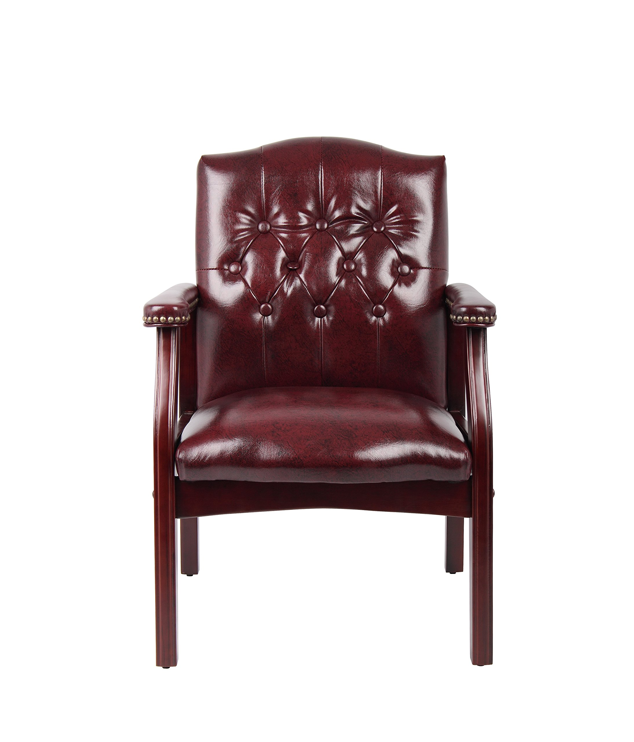 Boss Office Products B959-BY Ivy League Executive Guest Chair in Burgundy by Boss Office Products (Image #3)