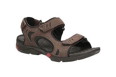 Clarks Wave Tour Marron - Chaussures Sandale Homme