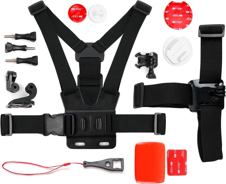 DURAGADGET Kit de Accesorios para cámaras Deportivas + Adaptador para Smartphone Xiaomi Redmi 3 / Redmi Note 3 Pro/Mi 4s / Mi 5 / Elephone P9000 / Funker W5.5 Pro
