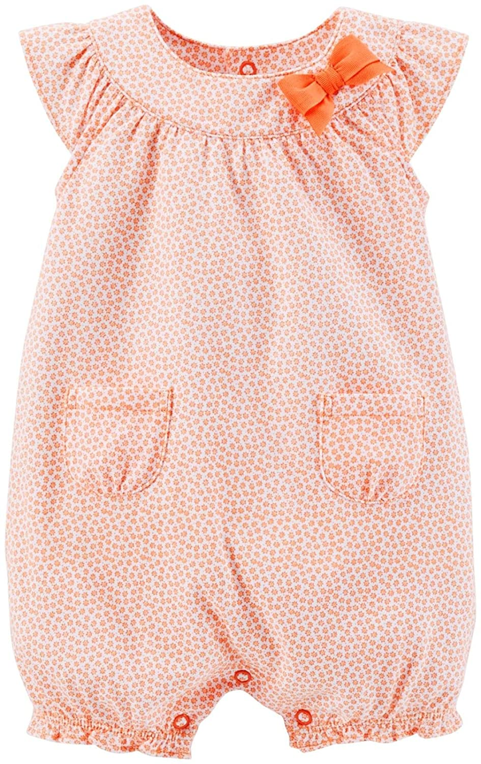 - Coral Carters Baby Girls Print Bubble Romper Baby 3 Months