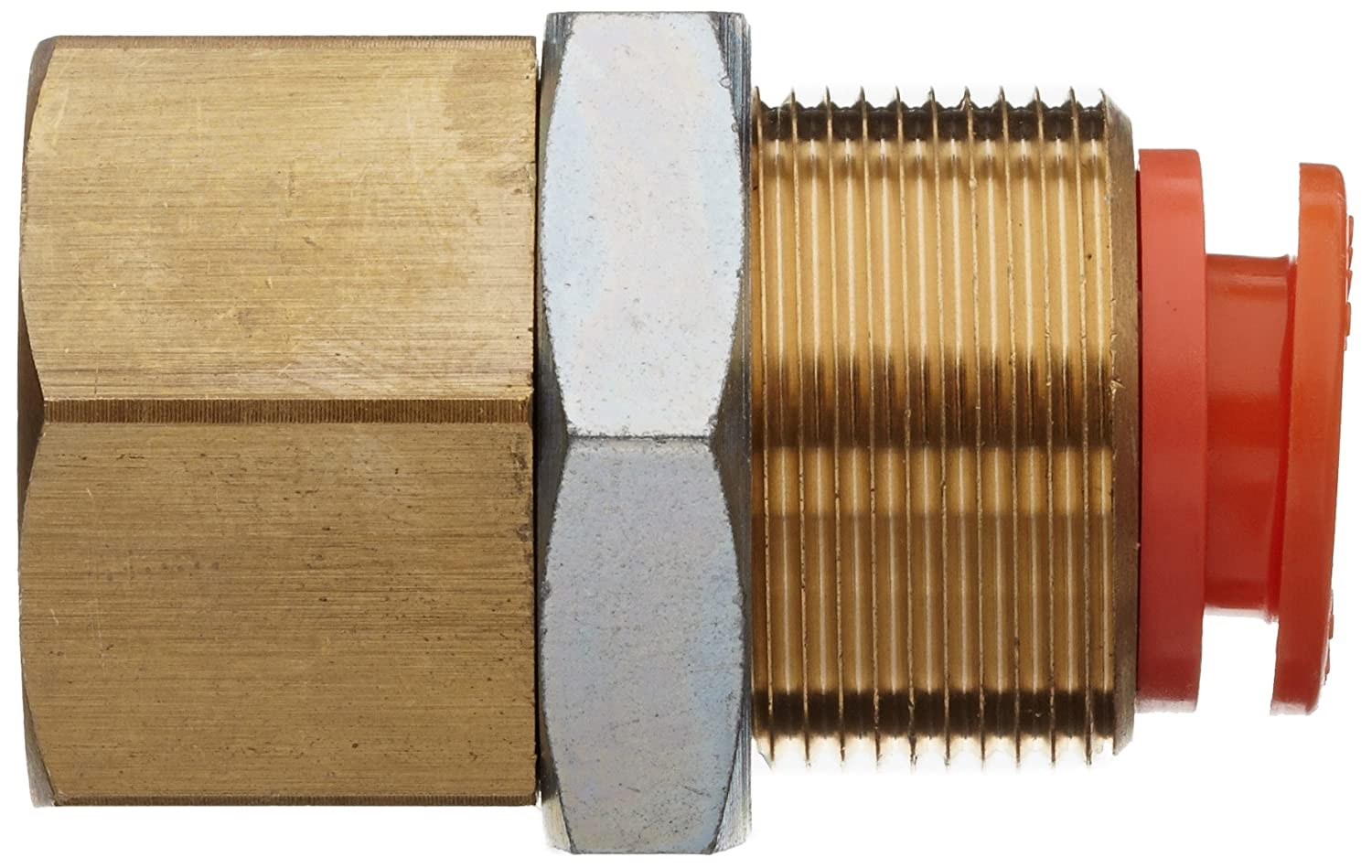 16 mm Tube OD x 1//2 BSPT 16 mm Tube OD x 1//2 BSPT SMC Corporation of America SMC KQ2E16-04A Brass Push-to-Connect Tube Fitting Bulkhead Connector