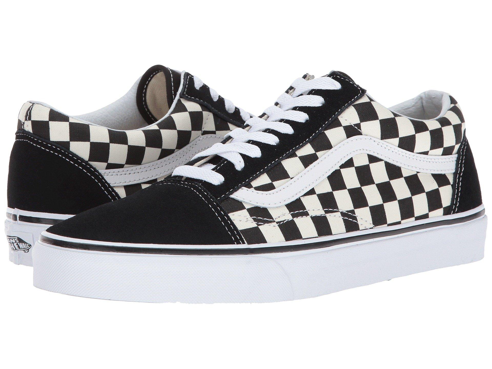 Vans Unisex Checkerboard Old Skool Lite Blk/White Checkerboard Slip-On - 3.5 by Vans (Image #7)