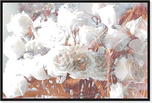 The Oliver Gal Artist Co. Floral and Botanical Framed Wall Art Canvas Prints 'Rose Gold Feast' Floral