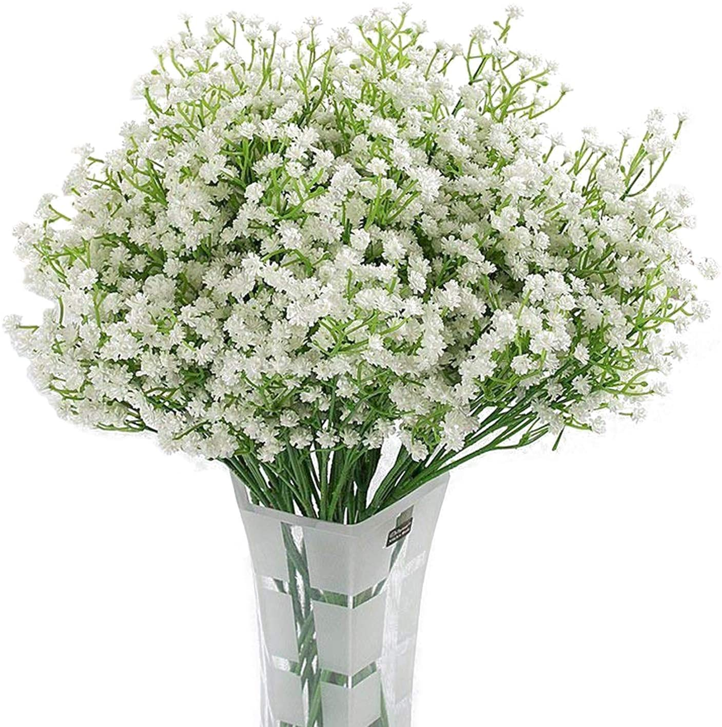 Homcomoda Artificial Flowers Babies Breath Flowers Fake Gypsophila Plants Bouquets For Wedding Home Diy Decoration A White 12pc Amazon Ca Home Kitchen