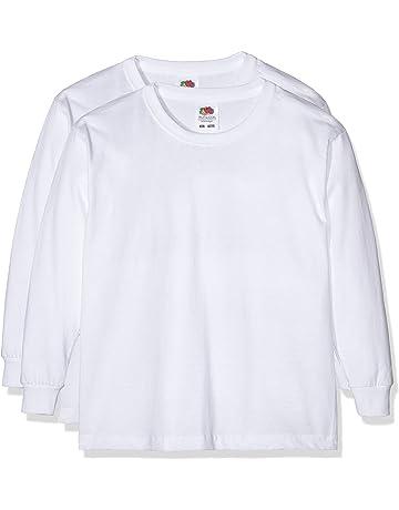 d9d4f7021 Fruit of the Loom Girl's Boys Vw Longsleeve T-Shirt (pack of 2)