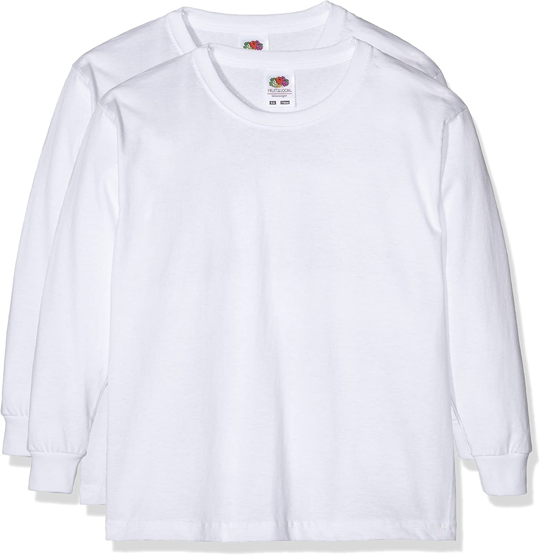 Fruit of the Loom Girls Boys Vw Longsleeve T T-Shirt