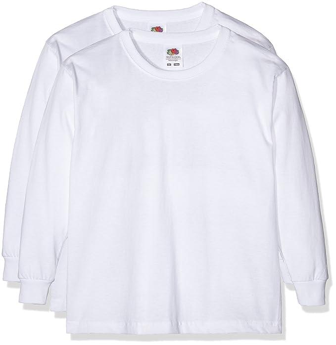 Fruit of the Loom 0610072 - Camiseta de manga larga para niños ...