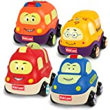 Kidzlane Pull Back Cars for Toddlers | Baby Toy Cars for 1 to 3 Year Old Boy or Girl | Soft & Sturdy Pull Back Car Toys…