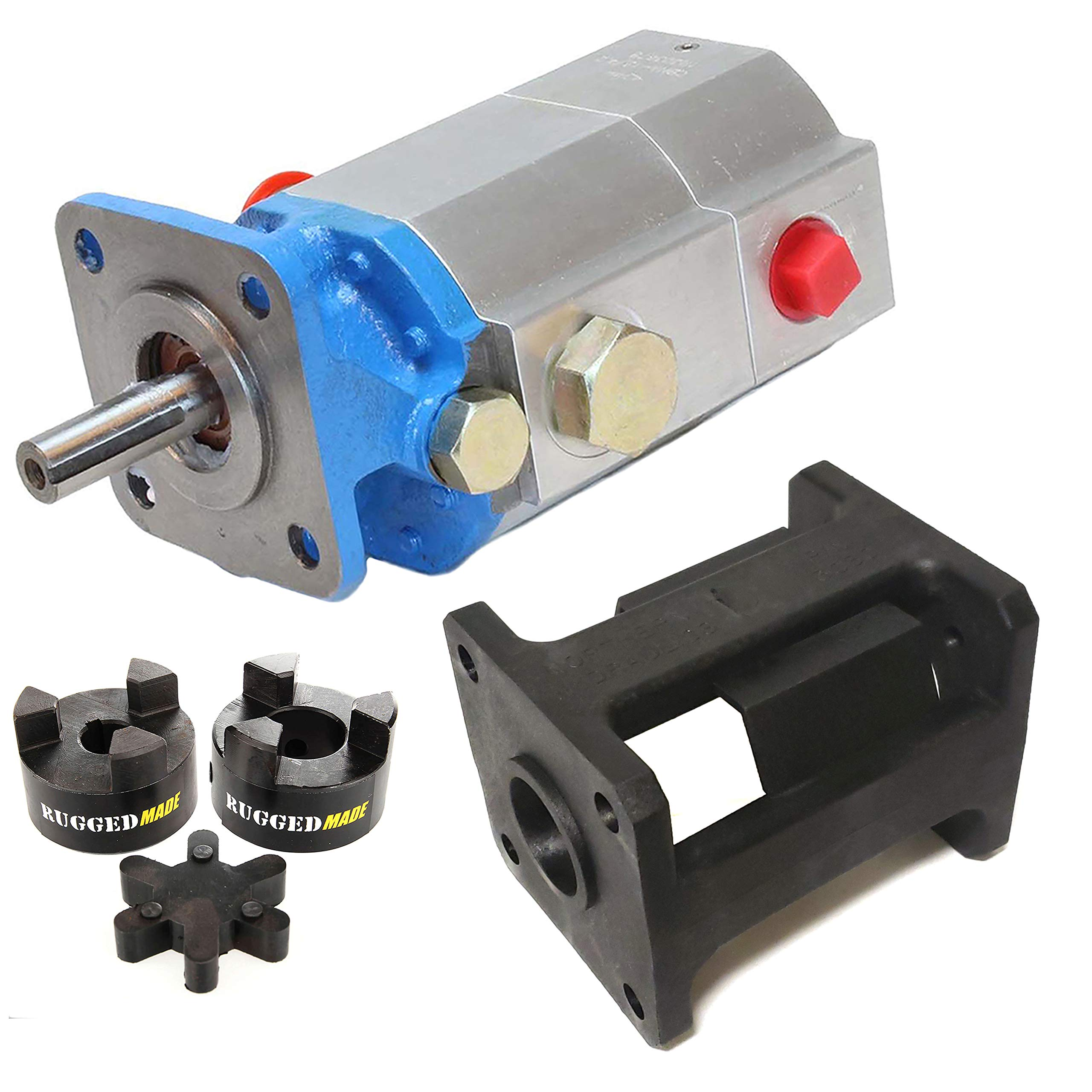 RuggedMade Hydraulic Log Splitter Build Kit - 11 GPM Pump, Small Engine Mounting Bracket, Coupler for 5/8'' Engine Shaft