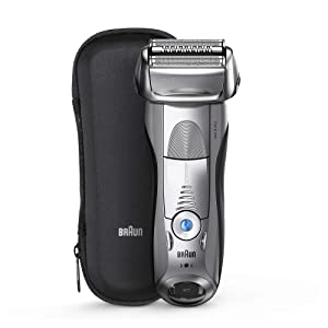 Braun Series 7 Electric Shaver for Men 7893s, Wet & Dry, Integrated Precision Trimmer, Rechargeable and Cordless Razor, with Travel Case – Silver