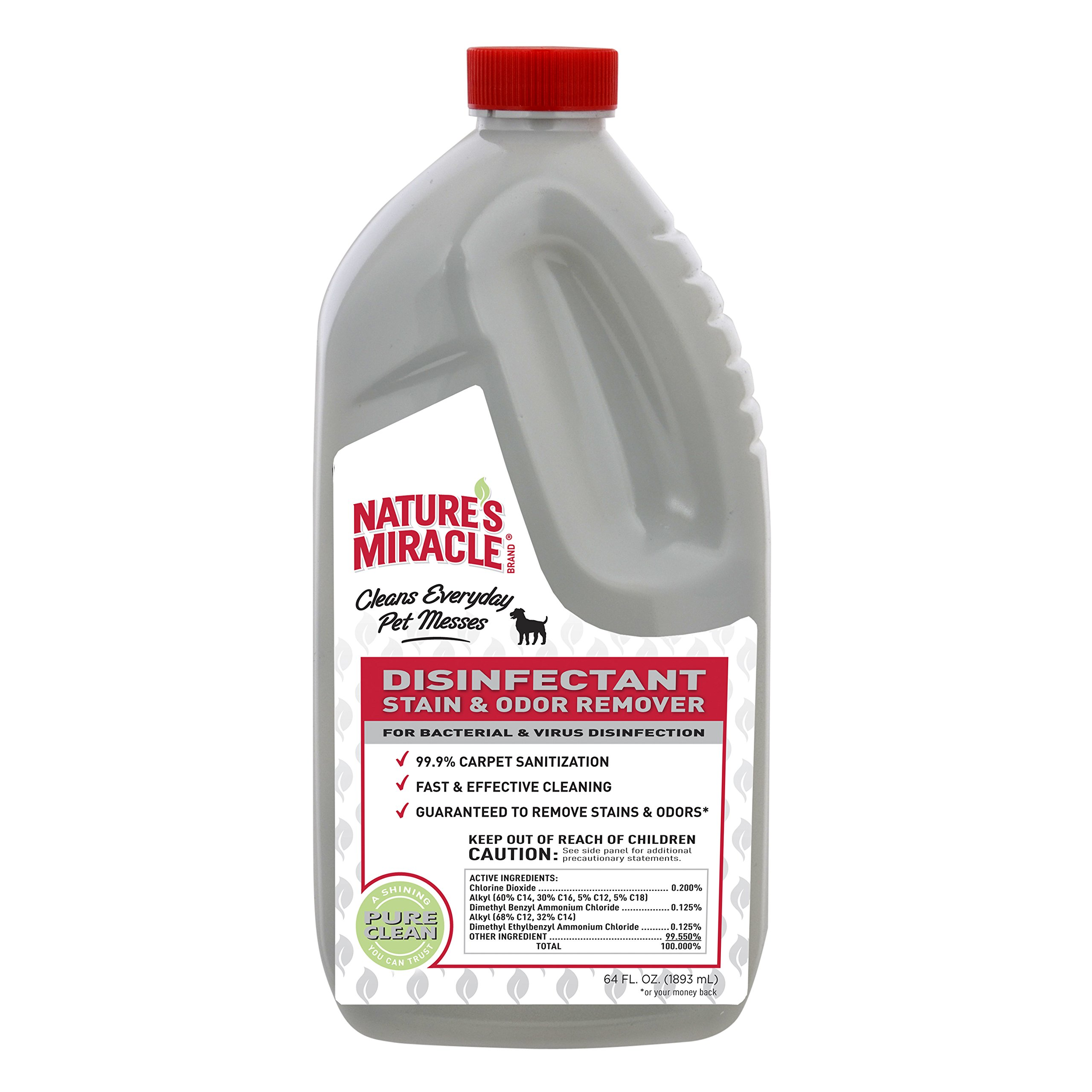 Nature's Miracle NM-5480 Brand Disinfectant Stain/Odor Remover, 64 oz