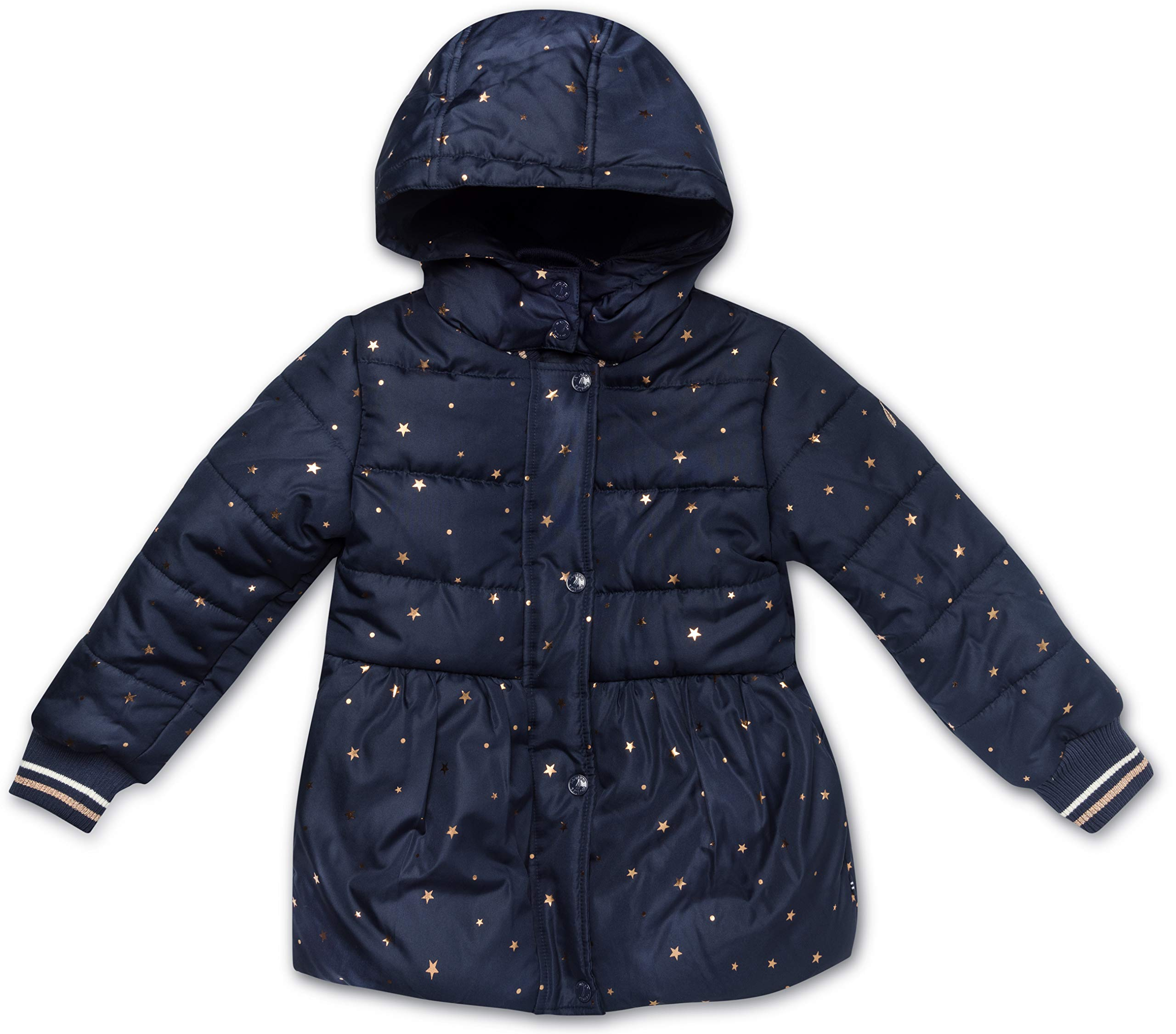 Nautica Girls' Little Puffer Coat with Removable Hood, Navy, 6 by Nautica