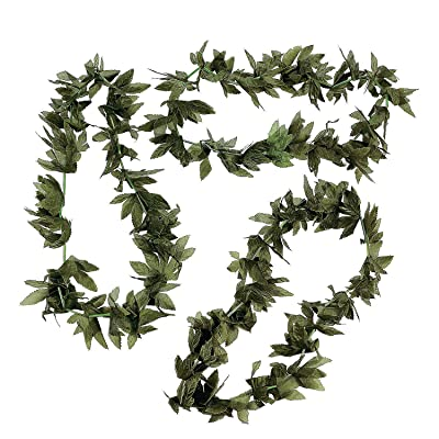 Fun Express Tropical Fern Leaf Lei (Set of 12) Luau and Tiki Party Supplies: Toys & Games