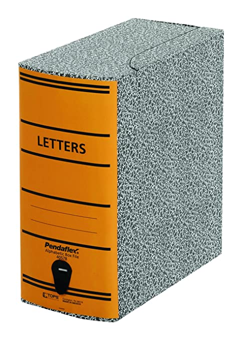 Beau Pendaflex 40578 File Storage Box, Letter, Binder Board, Black/Orange
