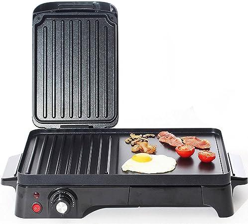 Charles Jacobs 2200 W Diez Mucha saludable portátil eléctrico Barbacoa y parrilla Temperatura variable, Panini Toaster – Sandwichera, caravanas y camping Horno en negro 2 años de garantía: Amazon.es: Hogar