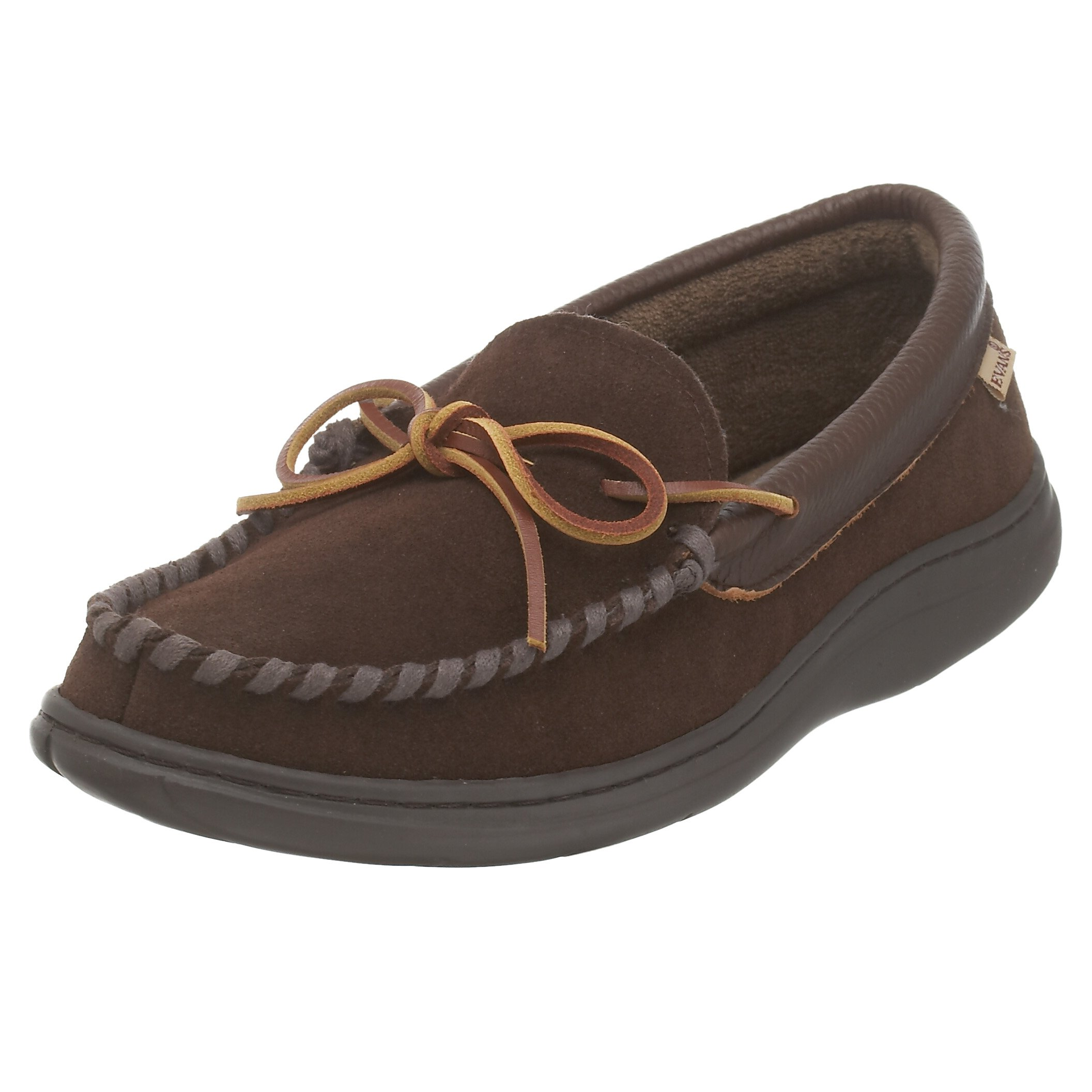 L.B. Evans Men's Atlin Terry Slipper,Chocolate,12 M by L.B. Evans