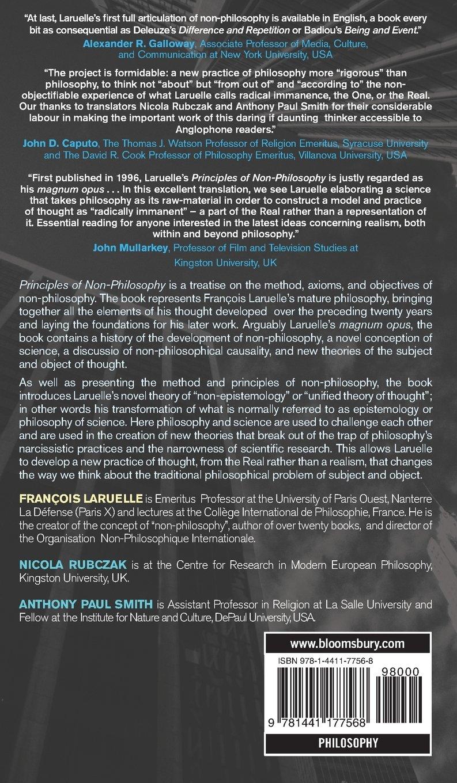 Principles Of Nonphilosophy: Francois Laruelle: 9781441177568: Amazon:  Books