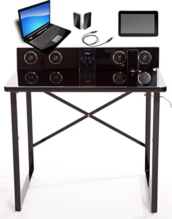 ultimate kids desk smart table with speakers and builtin ipod iphone ipad