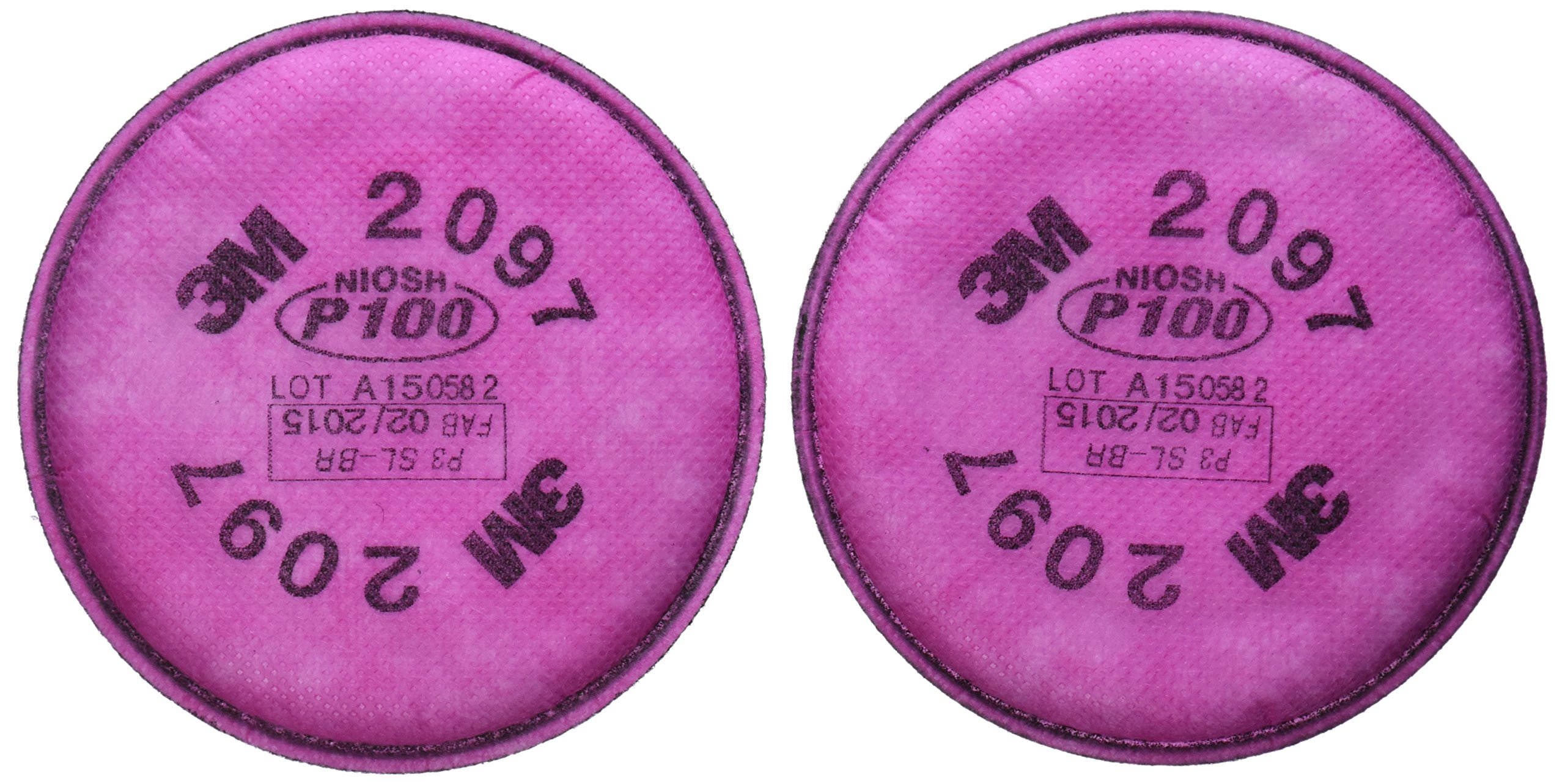 3M - 2097 P100 Particulate Filter For 5000, 6000, 6500, 7000 And FF-4 Pink